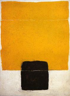 *abstract painting, art, yellow* - Tomie Ohtake, 1964 Brasil