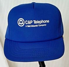Baseball Cap C  amp  P Telephone Bell Atlantic Vintage Blue Foam Snapback   PennantWinner   a2a8571501dd