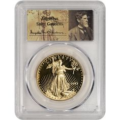 1993-W American Gold Eagle Proof coin (1 oz) $50 - Certified PCGS PR70 - St. Gaudens Label