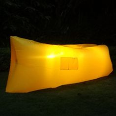 Ciye LED Outdoor Furniture Portable Inflatable Lounge Luminous Air Sofa,Waterproof Indoor and Outdoor Hiking Air Bed Hammock Inflated Lounge Chair (Yellow) -- Startling review available here  : Air Lounges