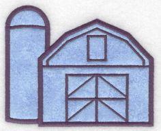 Barn with silo applique Machine Embroidery Design or Pattern #Applique #MachineEmbroidery #EmbroideryDesigns #Embroidery #EmbroideryLegacy #barn #farm