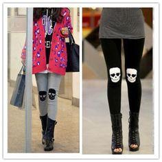 Skull Knee Leggings