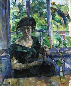 "bofransson: "" 'Portrait Of Madame Pascar' (1923) by Petr Petrovich Konchalovsky """