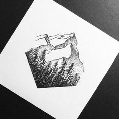 Mountain sketch / drawing €… - diy tattoo images - Tattoo World Trendy Tattoos, Cute Tattoos, New Tattoos, Body Art Tattoos, Tatoos, Drawing Tattoos, Cross Tattoos, Diy Tattoo, Montain Tattoo
