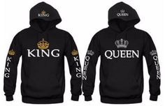 Shop a great selection of King Queen Couples Hooded Sweatshirt. Find new offer and Similar products for King Queen Couples Hooded Sweatshirt. Cute Couple Hoodies, Matching Hoodies For Couples, Matching Couple Outfits, Couple Shirts, Hoodie Sweatshirts, Boyfriend And Girlfriend Hoodies, King And Queen Sweatshirts, King Shirt, King Queen