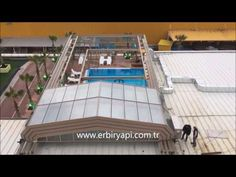 ERBİR YAPI, RETRACTABLE POOL ENCLOSURES, RETRACTABLE GLASS ROOF - YouTube