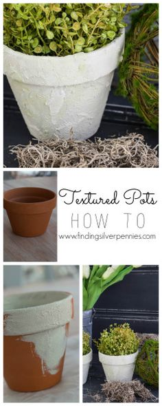 How to Create Textured Pots | Modern Masters Texture Effects | Project by Finding Silver Pennies