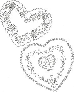 Heart tag pattern for card.