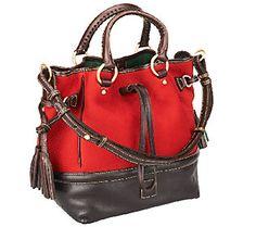 As Is Dooney & Bourke Nubuk Leather Buckley Bag