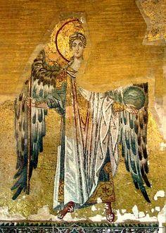 Byzantine Icons, Byzantine Art, Archangel Gabriel, Hagia Sophia, Angels Among Us, Art Icon, Orthodox Icons, Arabian Nights, Angel Art
