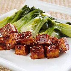 Crispy Glazed Tofu With Bok Choy Recipe