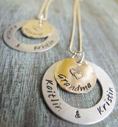 Sterling+Silver+and+Gold+Personalized+Pendant+by+madebydawnrenee,+$59.50