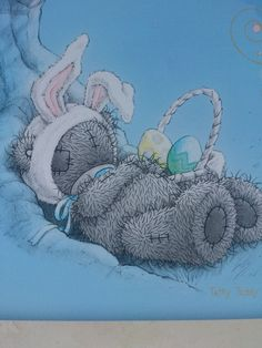 Tatty Teddy, Blue Nose Friends, Me to You, Napping Bunny Teddy Pictures, Easter Pictures, Bear Pictures, Cute Pictures, Tatty Teddy, Bear Graphic, Blue Nose Friends, Bear Illustration, Love Bear