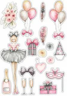 Deco Stickers, Journal Stickers, Scrapbook Stickers, Cute Stickers, Scrapbook Paper, Decoupage, Diy And Crafts, Paper Crafts, Tumblr Stickers
