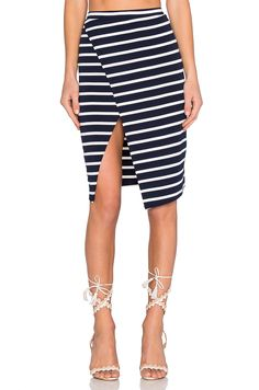 Lovers + Friends Laurel Skirt in Navy Stripe | REVOLVE