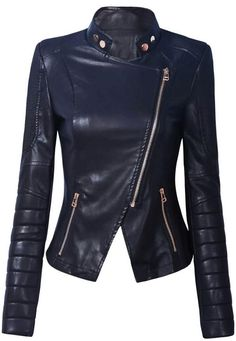 Long Sleeves Leather Jacket