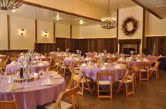Lilac purple linens for wedding at The Woodlands at Cottonwood Canyon