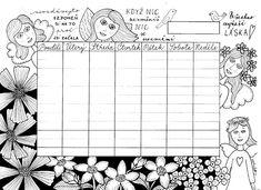 Tvoření od IVETULE: Týdenní plánovač 2021 Decoupage, Playing Cards, Projects, Blog, Fimo, Log Projects, Blue Prints, Playing Card Games, Blogging