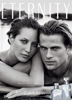 Christy Turlington and Mark Vanderloo photographed by Peter Lindbergh for Calvin Klein Eternity