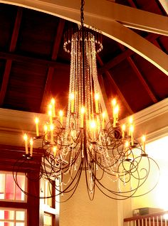 Crystal Scroll Chandelier 27 candle Chandeliers, Candles, Ceiling Lights, Steel, Crystals, Studio, Lighting, Home Decor, Transitional Chandeliers