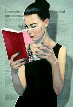 Bookface art #literaryart http://writersrelief.com/