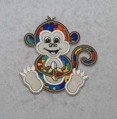 Monkey Autism Awareness Puzzle Piece - MADE to ORDER - Choose SIZE - Tutu & Shirt Supplies - Iron on Applique Patch 8111 by TheFabricScene on Etsy