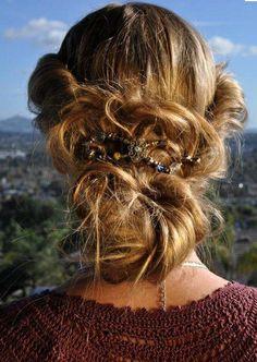 Festival Hair: Messy bun.