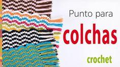 #Crochet: punto para colchas! No podrán creer lo fácil que es seguir este punto... se repite solo 1 hilera cambiando de color de lana y el resultado es precioso!