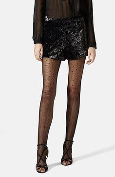 Topshop velvet sequin shorts
