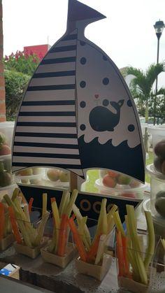 Mesa de Frutas para Baby Shower con tema de Barquito                                                                                                                                                      Más