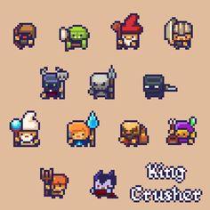 : Photo Some pixels, some stuffs. Piskel Art, Pix Art, Character Template, Game Character Design, Character Concept, Game Design, How To Pixel Art, Game 2d, Chalk Pastel Art