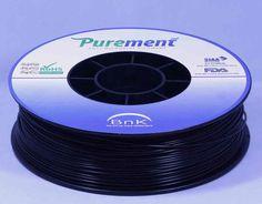 Antibacterial 3D printing filament, Purement, in Black www.cleanstrands.com