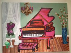 pink piano - wall art  #uncommongoods #contest