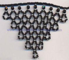 Boncuk Takı Tasarımı-Takı Yapımı ve Satışı: Kum boncuktan yapabileceğiniz kolyelerin Şemaları Beading Patterns Free, Beaded Jewelry Patterns, Wedding Jewelry, Diy Jewelry, Jewelry Making, African Accessories, Fashion Accessories, Bead Loom Bracelets, Loom Beading