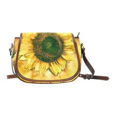 #Painting #Sunflower - Life is in full bloom Saddle #Bag /Small (Model 1649) - thanks to the customer!