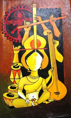 Beautiful Painting - Natraj - Lord Of Dance by Sheetal Bhonsle Dance Paintings, Music Painting, Indian Art Paintings, Figure Painting, Diy Painting, Madhubani Art, Madhubani Painting, Krishna Painting, Acrylic Canvas