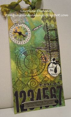 designed by Caroline Duncan ~ stampingsandinklings.blogspot.com Tim Holtz: May Tags of 2013