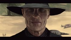 Ed Harris - Westworld by BudapestA on DeviantArt Hbo Tv Series, Everything Is Awesome, Character Reference, Wild West, Black Men, Fans, The Incredibles, Deviantart, Random