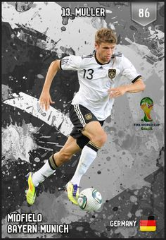 #ThomasMuller Germany FIFA World Cup 2014 Lineup
