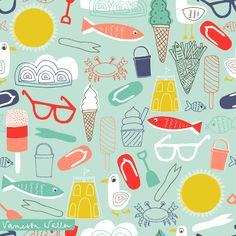 Seaside pattern by Vanessa Waller