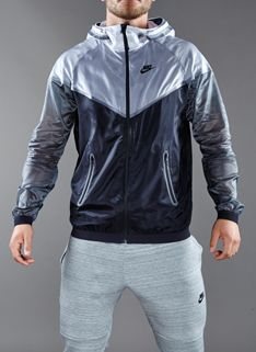 Nike HYP Windrunner - Mens Running Clothing - White-Black-Dark Grey-Black