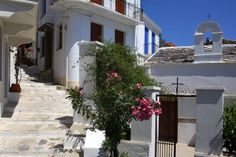 Skopelos streets. www.360skopelos.com Greece, Sidewalk, Island, Holidays, Street, Photography, Greece Country, Holidays Events, Photograph