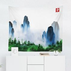 Searching for a Japan Tapestry? Shop for high quality Wall Tapestries designed by independent artists on W. Tapestry Design, Wall Tapestry, Cool Tapestries, A Team, Vivid Colors, North Carolina, Hand Sewing, Oriental, Just For You