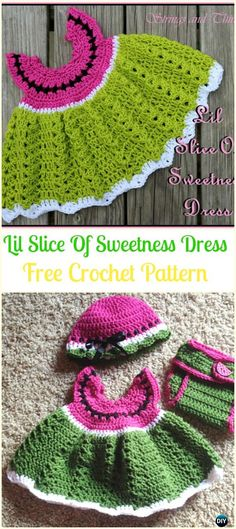 Crochet Lil Slice Of Sweetness Dress Free Pattern-Crochet Heart Applique Free Patterns