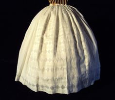 """White Civil War 1860's Skirt– Very Detailed Construction 