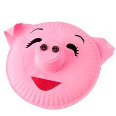Pig Paper Plate   FaveCrafts.com