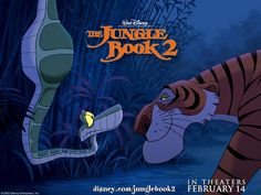 Mowgli, missing the jungle and his old friends, runs away from the man village unaware of the danger he's in by going back to the wild. The Jungle Book 2, Raised By Wolves, Cartoon Movies, Disney Films, Animation, Books, Movie Posters, Fictional Characters, Friends