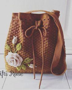 Ideas For Knitting Bag Sewing Pattern Sweaters Bag Patterns To Sew, Sewing Patterns, Crochet Patterns, Knitting Patterns, Crochet Handbags, Crochet Purses, Love Crochet, Knit Crochet, Flower Bag