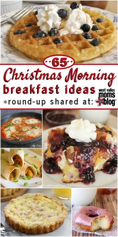 A round-up of 65 Christmas Morning Breakfast Ideas - We've got you covered no matter if you prefer sweet or savory! There are plenty of great recipes to choose from! Christmas Morning Breakfast, Christmas Brunch, Christmas 2019, Breakfast Ideas, Breakfast Recipes, Breakfast Muffins, Sweet Breakfast, Breakfast Dishes, Brunch Ideas