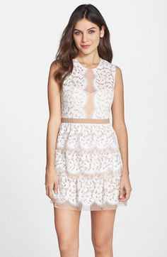 Lace dress fit and flare tiered